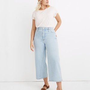 Madewell Cropped Wide-Leg Jeans: Inset Edition NWT